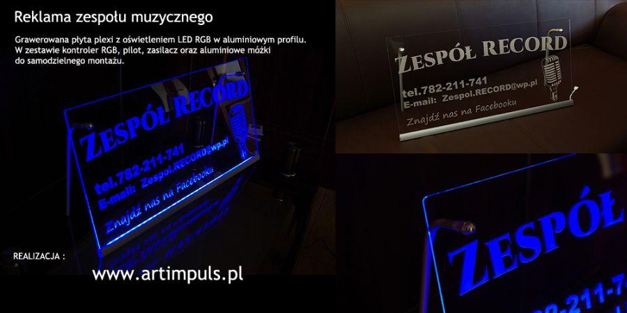 Zaktualizowano Podświetlana tablica reklamowa LED 100x50cm - Art Impuls - wyroby FT66